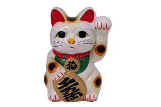 Maneki Neko Lucky Cat Background for Desktop 1280x720 HDTV