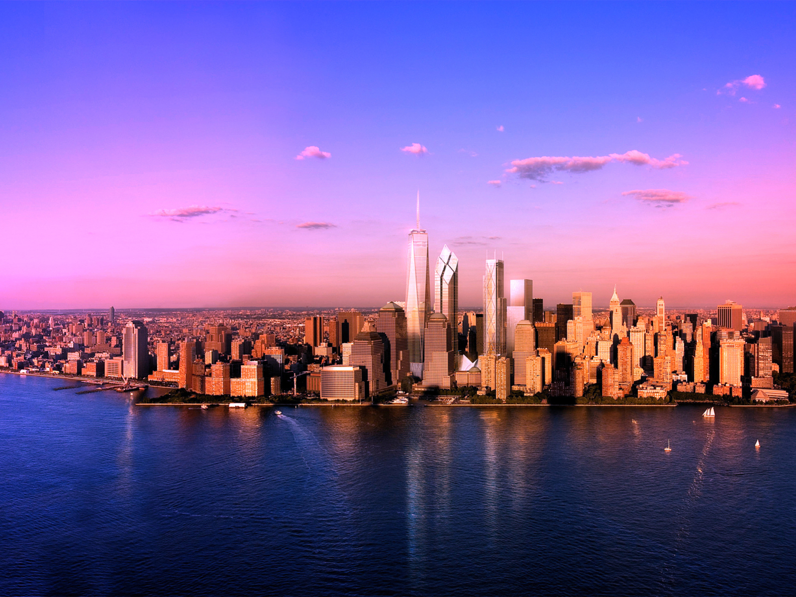 мегаполис на закате загрузить
