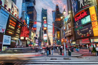 New York City Times Square Background for Android, iPhone and iPad