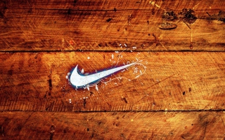 Wooden Nike Logo Wallpaper for 1280x800