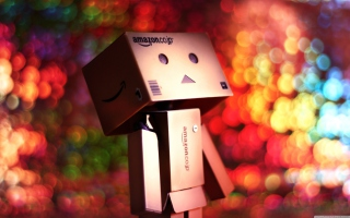 Danbo And Magical Bokeh Background for Android, iPhone and iPad