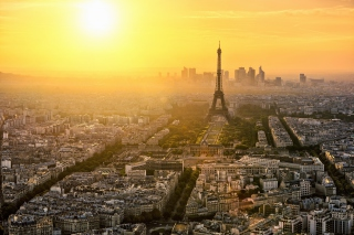 Paris Sunrise Background for Android, iPhone and iPad