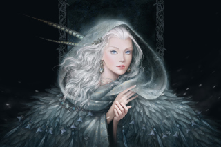 White Fantasy Princess Background for Android, iPhone and iPad