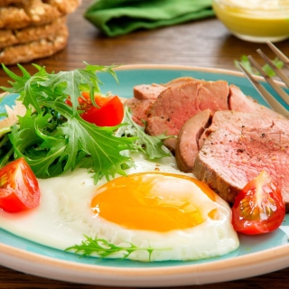 Scrambled eggs and ham sfondi gratuiti per iPad 3