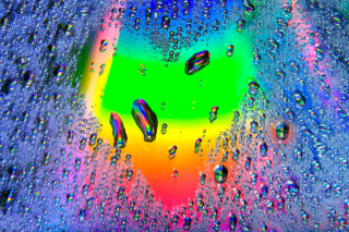 Heart of Water Drops Background for Android, iPhone and iPad