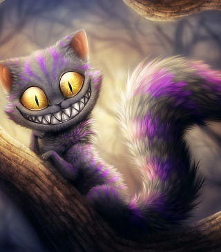 Cheshire Cat Background for 240x320