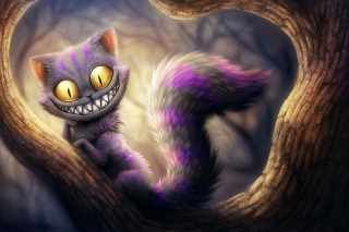 Cheshire Cat Wallpaper for Android, iPhone and iPad