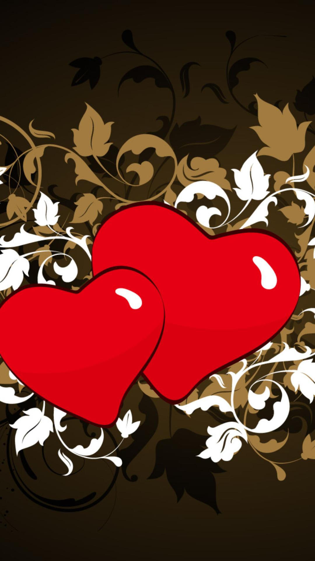 Картинки сердце любовь с надписями на телефон