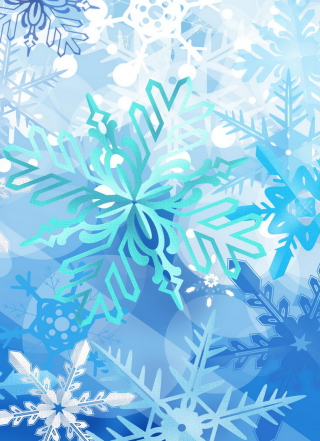 Christmas Snowflakes Background for Nokia C2-05