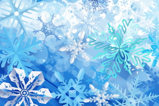 Christmas Snowflakes Wallpaper for Android, iPhone and iPad