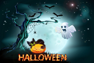 Halloween Night Background for Nokia X2-01