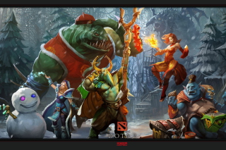 Dota 2 Heroes Background for Samsung Galaxy Ace 4