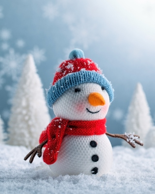 Snowman Wallpaper for 176x220