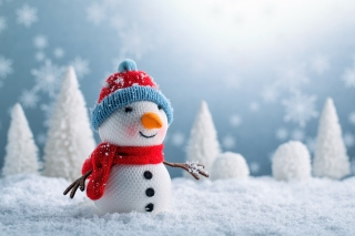 Snowman Wallpaper for 1152x864