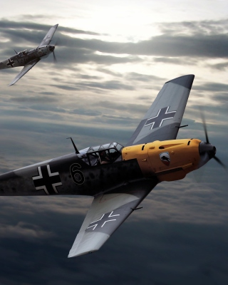 Messerschmitt Bf 109, German World War II fighter aircraft - Obrázkek zdarma pro 320x480