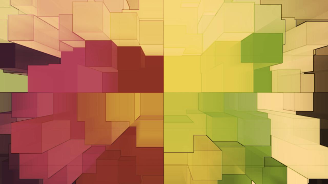 Multicolored 3D Blocks
