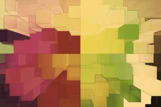 Free Multicolored 3D Blocks Picture for Android, iPhone and iPad