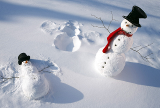 Happy Snowman sfondi gratuiti per cellulari Android, iPhone, iPad e desktop