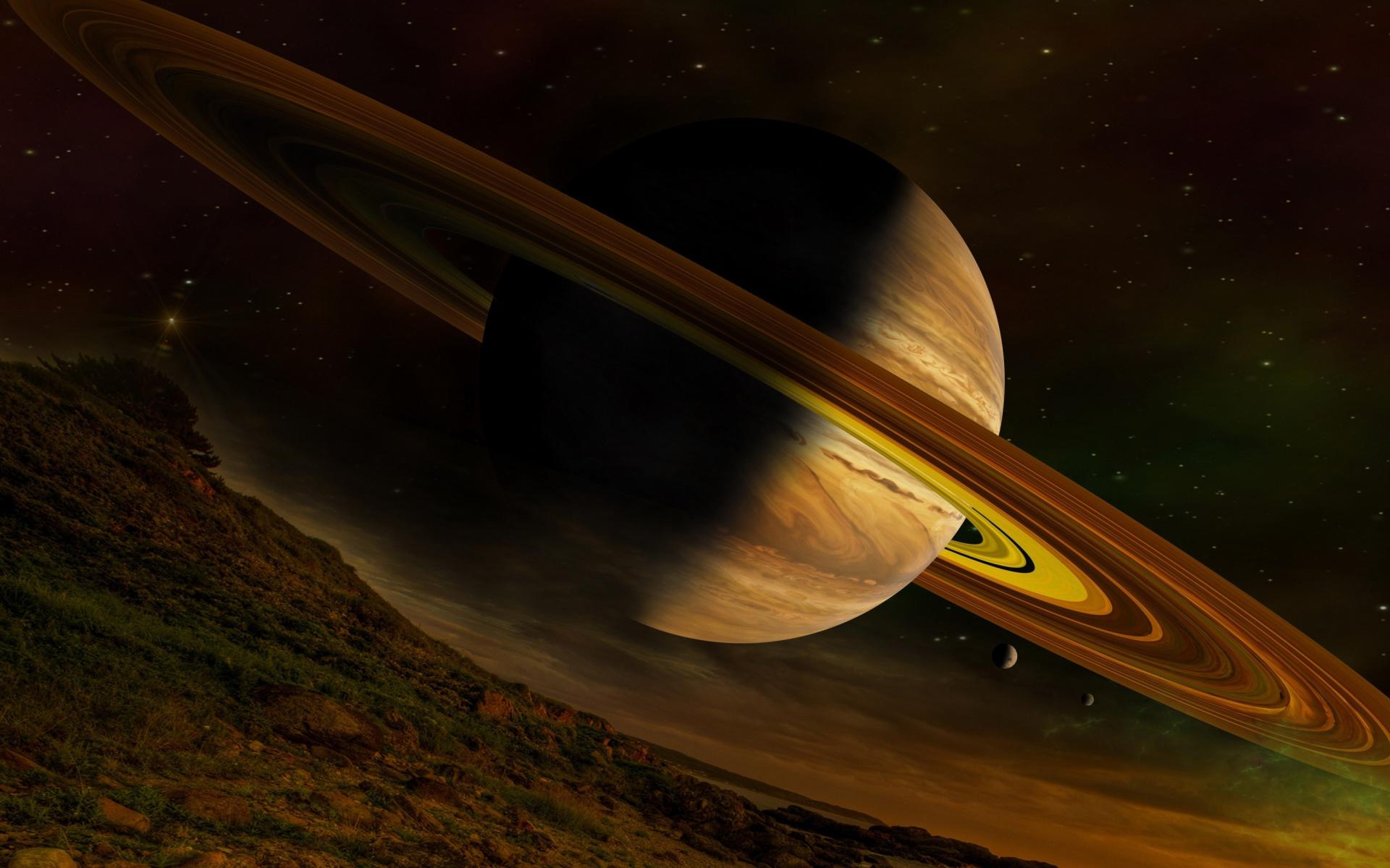 Planet Saturn Fondos De Pantalla Gratis Para Widescreen