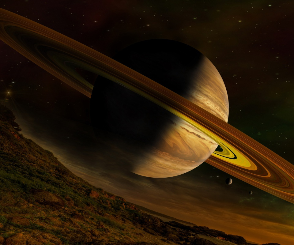 Screenshot №1 pro téma Planet Saturn 960x800