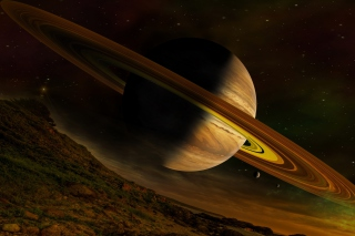 Planet Saturn Wallpaper for Android, iPhone and iPad