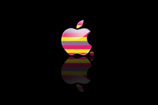 Colorful Stripes Apple Logo - Obrázkek zdarma