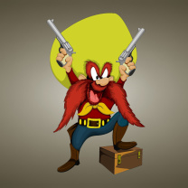 Screenshot №1 pro téma Looney Tunes   Yosemite Sam 208x208
