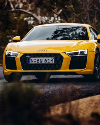 Audi R8 V10 Plus Yellow Body Color - Fondos de pantalla gratis para Nokia Asha 303