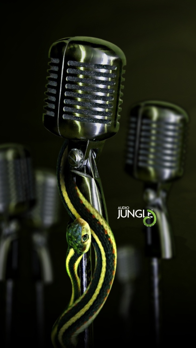 Snake Audio Jungle wallpaper 640x1136