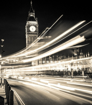 Big Ben London City Lights Background for 240x320