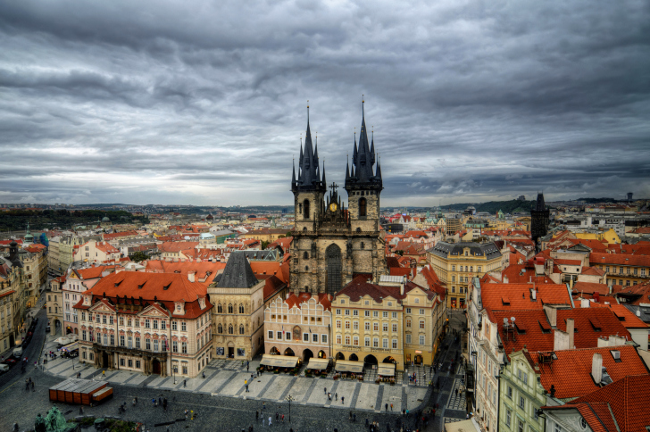 Old Town Square Prague wallpaper