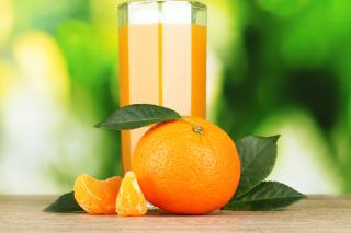Orange and Mandarin Juice Background for Android, iPhone and iPad
