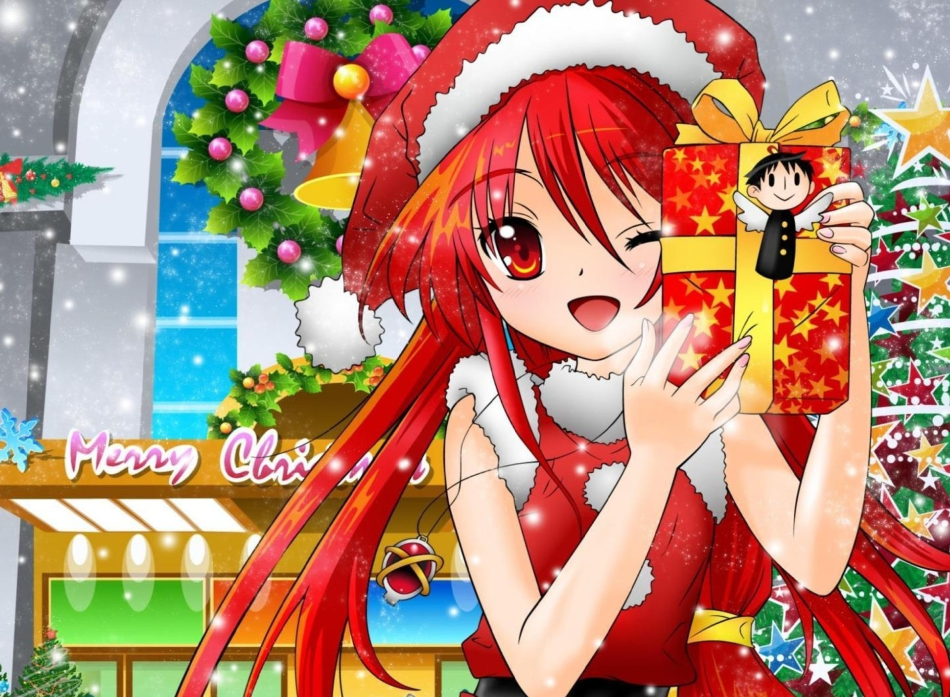 Sfondi Christmas Anime girl 1920x1408