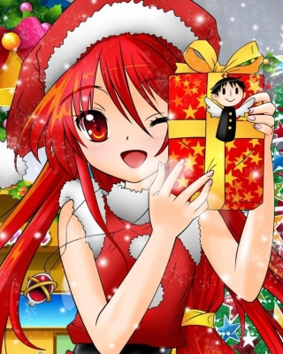 Christmas Anime girl Wallpaper for 240x320