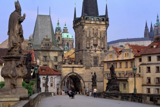 Charles Bridge Prague - Czech Republic sfondi gratuiti per 1200x1024