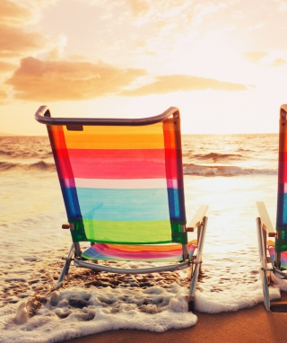 Beach Chairs sfondi gratuiti per iPhone 6