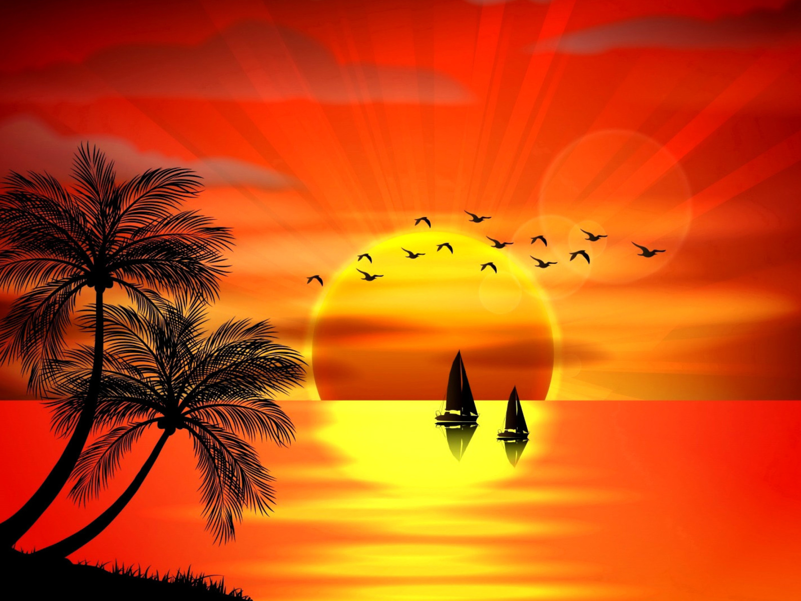 Обои Beautiful Sunset 1600x1200