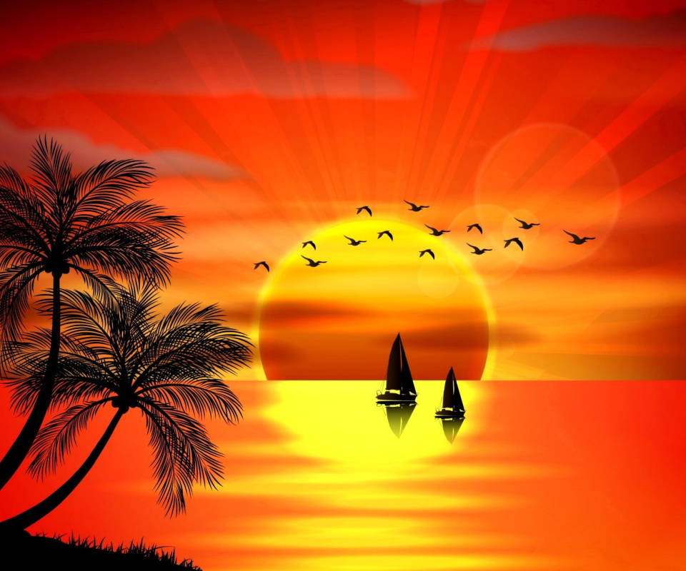 Beautiful Sunset wallpaper 960x800