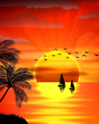 Beautiful Sunset Background for 480x800