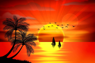 Free Beautiful Sunset Picture for Samsung Galaxy Ace 4