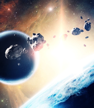 Free Asteroids In Space Picture for HTC Titan