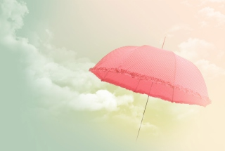 Pink Umbrella Background for Android, iPhone and iPad