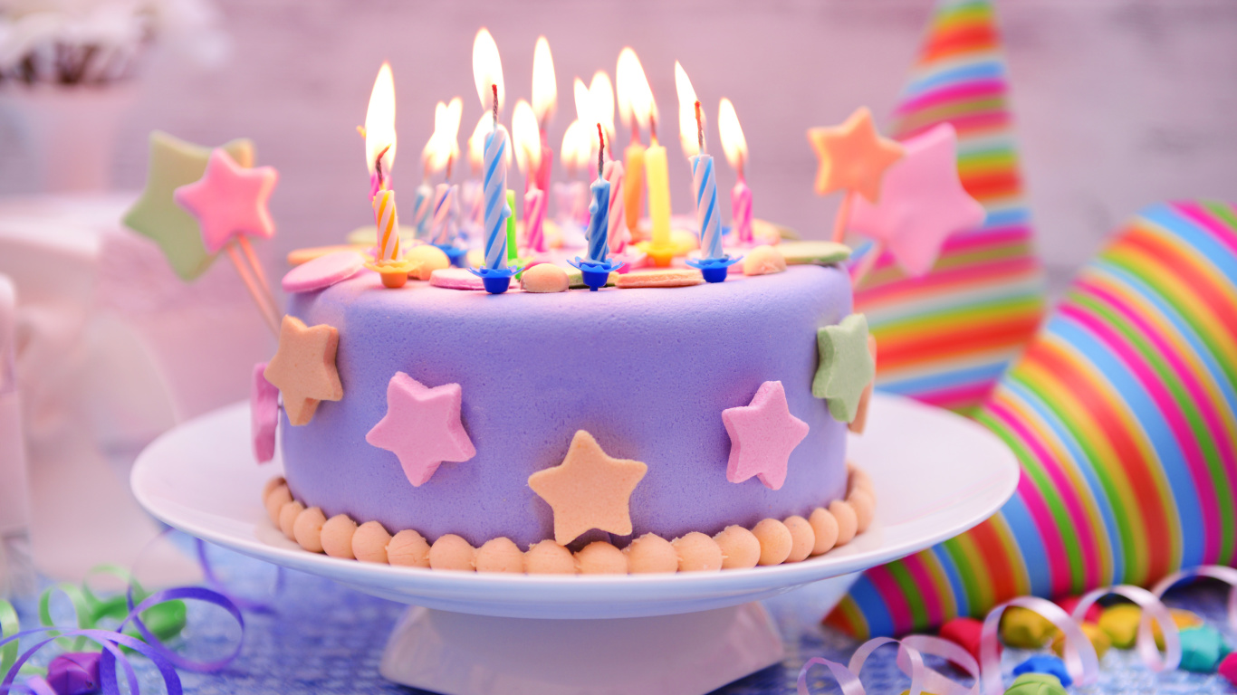 Screenshot №1 pro téma Happy Birthday Cake 1366x768