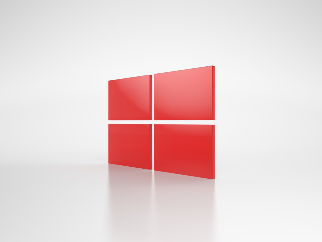 Screenshot №1 pro téma Windows Red Emblem 640x480