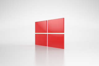 Kostenloses Windows Red Emblem Wallpaper für Android, iPhone und iPad