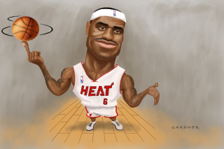 Lebron James Caricature Picture for Android, iPhone and iPad