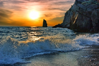 Splash on Evening Beach - Fondos de pantalla gratis para Android 1440x1280