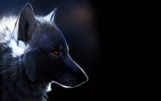 Wolf With Amber Eyes Painting - Obrázkek zdarma pro Widescreen Desktop PC 1920x1080 Full HD