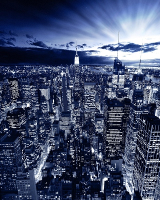 New York In Blue - Fondos de pantalla gratis para 640x1136