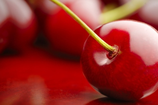 Free Cherry Macro Picture for Android, iPhone and iPad